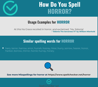 Correct spelling for horror