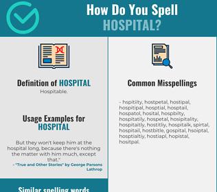Correct spelling for hospital