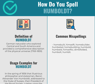 Correct spelling for humboldt