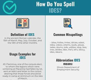 Correct spelling for ides