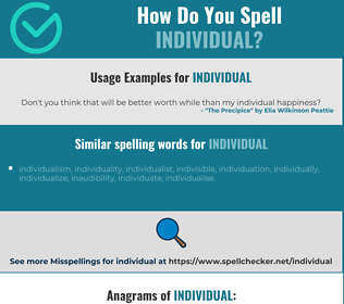 Correct spelling for individual
