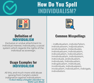Correct spelling for individualism