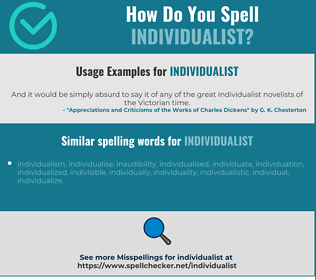Correct spelling for individualist