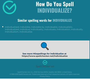 Correct spelling for individualize