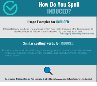 Correct spelling for induced