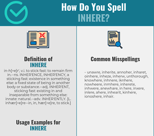 Correct spelling for inhere