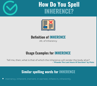 Correct spelling for inherence
