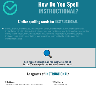 Correct spelling for instructional
