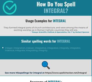 Correct spelling for integral
