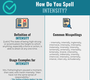 Correct spelling for intensity