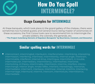 Correct spelling for intermingle