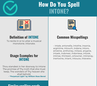 Correct spelling for intone
