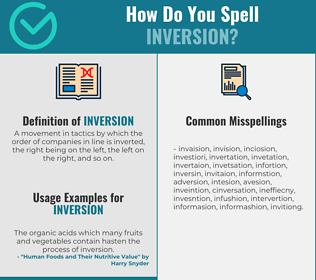 Correct spelling for inversion