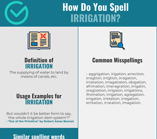 Correct spelling for irrigation