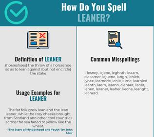 Correct spelling for leaner