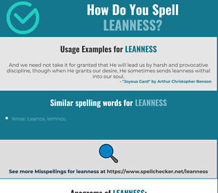 Correct spelling for leanness