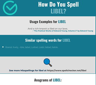 Correct spelling for libel