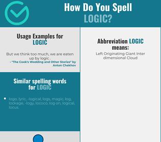 Correct spelling for logic