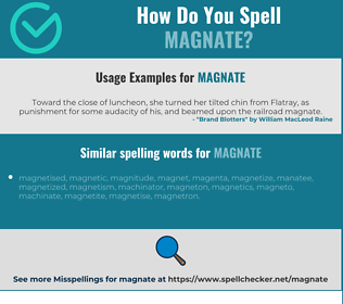 Correct spelling for magnate