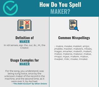 Correct spelling for maker