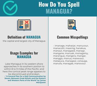 Correct spelling for managua