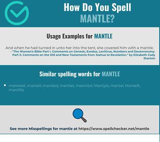 Correct spelling for mantle