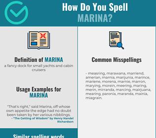 Correct spelling for marina