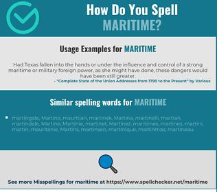Correct spelling for maritime
