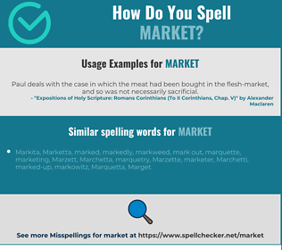 Correct spelling for market