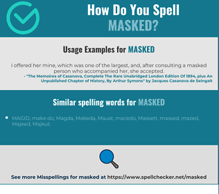 Correct spelling for masked