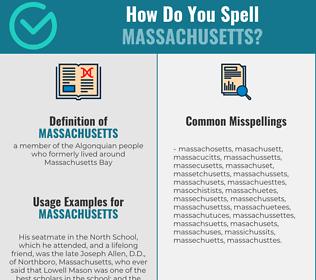 Correct spelling for massachusetts