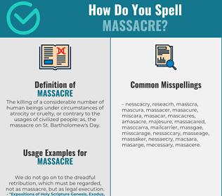 Correct spelling for massacre
