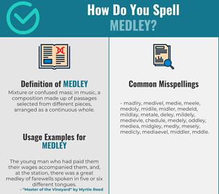 Correct spelling for medley