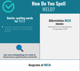 Correct spelling for meld