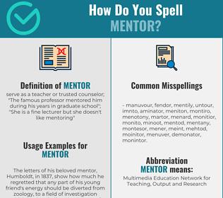 Correct spelling for mentor