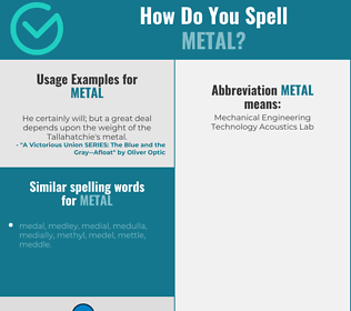 Correct spelling for metal
