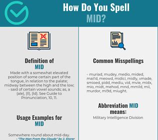 Correct spelling for mid