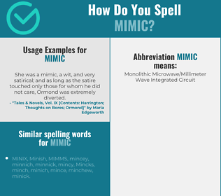 Correct spelling for mimic