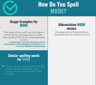 Correct spelling for mode