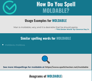 Correct spelling for moldable