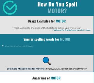 Correct spelling for motor