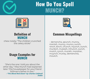 Correct spelling for munch