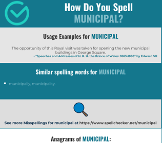 Correct spelling for municipal