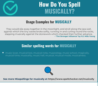 Correct spelling for musically