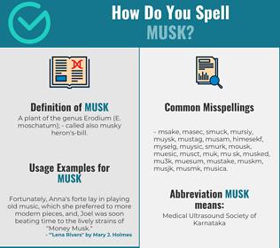 Correct spelling for musk
