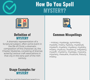 Correct spelling for mystery