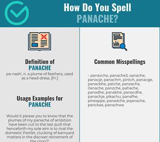 Correct spelling for panache