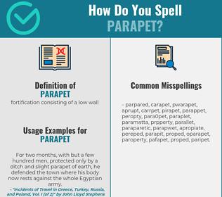 Correct spelling for parapet