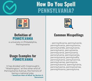 Correct spelling for pennsylvania