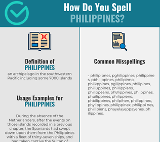 Correct spelling for philippines